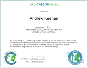 Carbon dating certificate